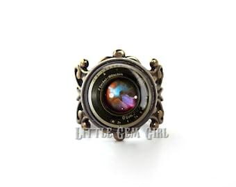 Vintage Style Mini Camera Ring HIGH QUALITY Adjustable Filigree Band - Bronze Camera Ring - Camera Jewelry Photography Photographer Jewelry