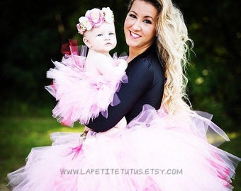 Mommy and me photo prop, matching tutus, girls tutu, adult tutu, matching tutu, mother and daughter dress, matching tutu, mother daughter