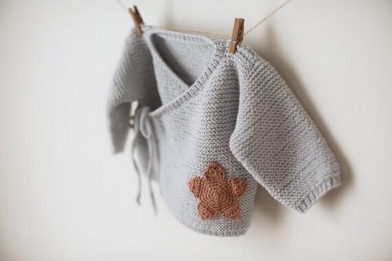 Baby sweater knitting pattern baby kimono jumper pattern dt1010fo