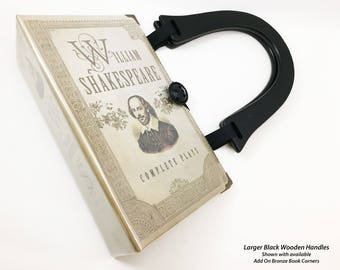 Shakespeare Plays Book Purse - William Shakespeare Recycled Book - Literature Gift - Macbeth Book Cover Handbag - Hamlet Book Clutch