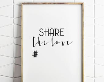 hashtag sign, hashtag instagram sign, instagram sign, instagram wedding, instagram decor, wedding decor, hashtag decor, share the love