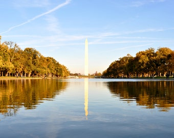 "Washington Monument Reflection Washington, DC 8"" x 10"" Original Print"
