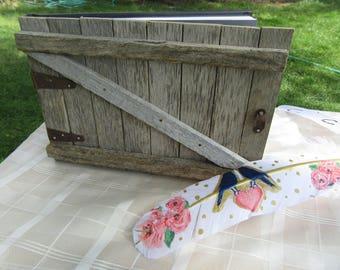 Barn door wedding guest book - mini, farm wedding