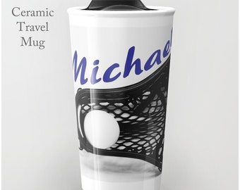 Lacrosse Tumbler-LaX Travel Mug-Lacrosse Ceramic Mug-12 oz Tumbler-Lacrosse Travel Cup-Insulated Travel Mug-Boys Lacrosse-Coffee Tumbler