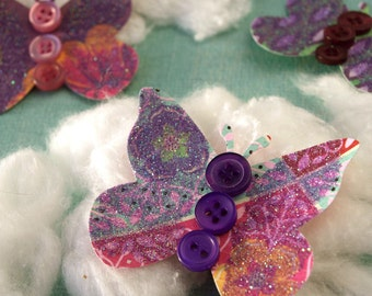 Butterflies - Coneflower Patch - set of 5 paper butterfly accents