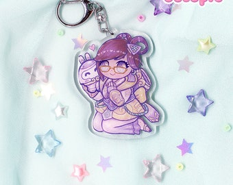 Mei Year of the Rooster Glitter Keychain