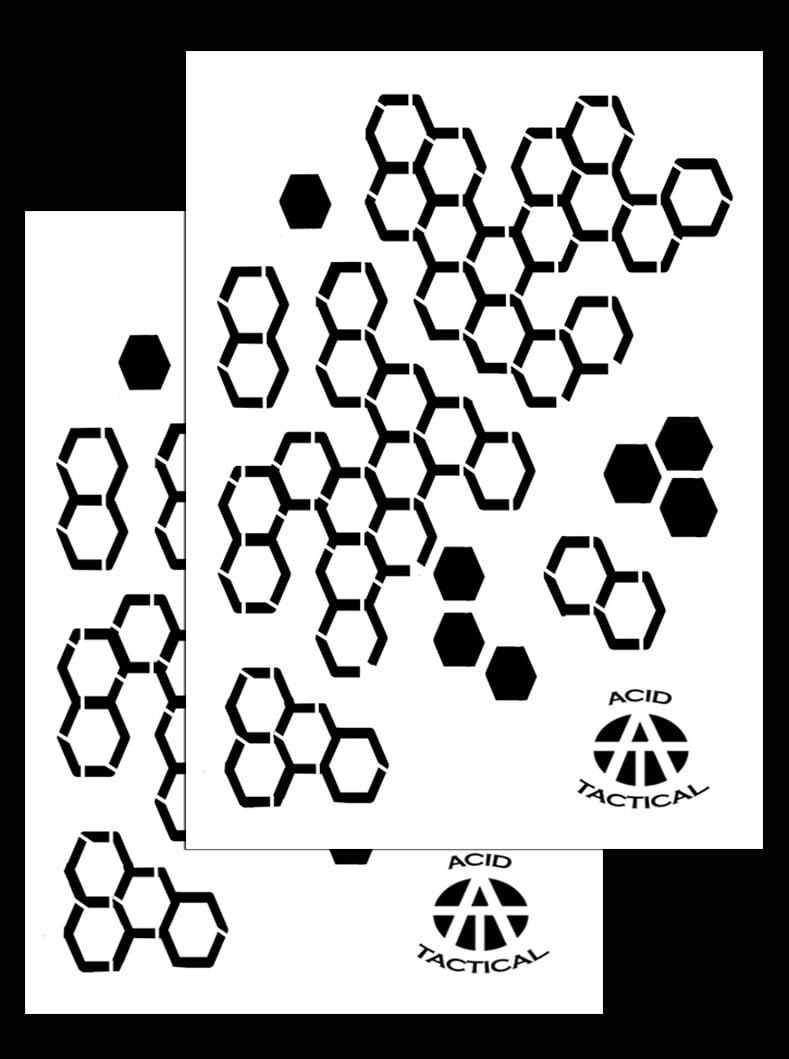 Ácido táctico® Pack 2 9 x 14 Hexacam camuflaje