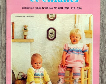 Magazine knitted baby and children 34 (Vintage)