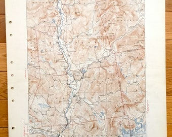 Antique Squam Lake & Plymouth, New Hampshire 1931 US Geological Survey Topographic Map – Campton, Sandwich, Thornton, Holderness, Waterville