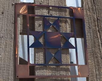 Ohio Star in Log Cabin Quilt Block (open)