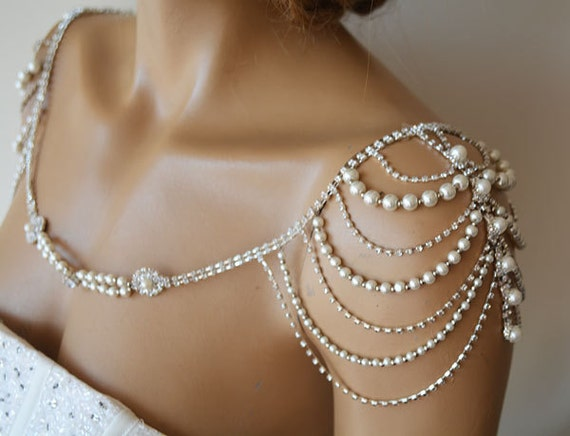 Wedding Shoulder Necklace Pearl Shoulder Jewelry For Bridal