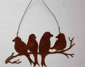 Lovely Metal Wall Art. Rusty Metal Birds. Bird Decor. Bird Wall Decor. Vintage  Birds.Rustic Bird Art. Metal Decor. Bird Wall Hanging. Ready To Ship