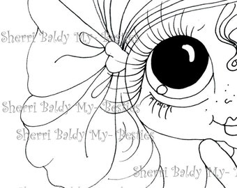 INSTANT DOWNLOAD Digital Digi Stamps Big Eye Big Head Dolls Digi  Img988 2 By Sherri Baldy