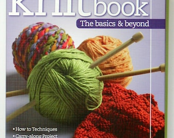 2007 KNITBOOK & DVD The Basics and Beyond Hardcover 3-Ring Binder Techniques Learn-to-Knit Project Stitch Cards Scarves Hats Sweaters Bags