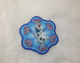 patch applique iron-on or sew snowman Queen of snow