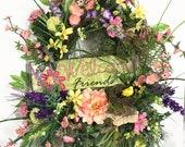 Welcome Wreath, Pink Wrea...