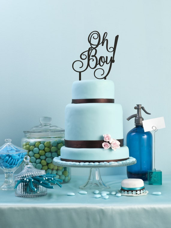 Baby Boy Cake Topper, Shower Cake Topper, Oh Boy Cake Topper, Gender Reveal Cake Topper, It's a Boy Cake Topper, Baby Shower Cake Topper