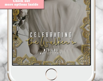 Indian Wedding Geofilter, Gold Snapchat filter, Elegant Geofilter, Snapchat Filter Wedding, Gold Snapchat Wedding, Mehndi Snapchat Geofilter