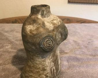 Female Torso Sculpture Vase