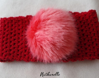 0-4 years red ear warmer headband
