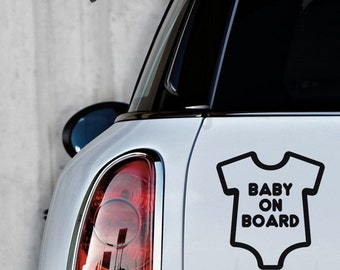 Baby On Board Car Sticker - Window Decal - Car Decal - Baby On Board Decal - LSCD-A0002TF