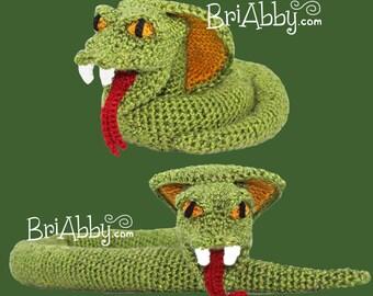 Crochet Cobra Snake Toy Pattern (PDF FILE)