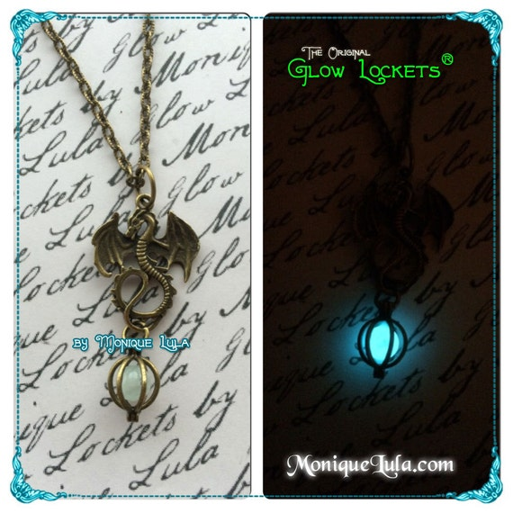 Dragon Orb Bronze with Glow Orb Egg Glow in the Dark Pendant