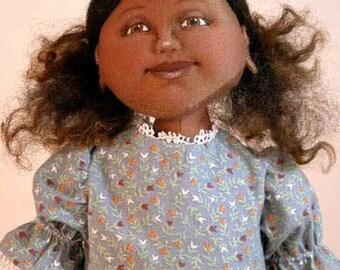 Cecelia cloth doll E-PATTERN