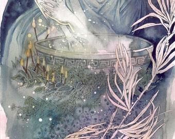 Cauldron // Witch / Magical / Fantasy Art Print