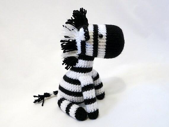 Made to order amigurumi zebra plush crochet zebra doll like this item dt1010fo