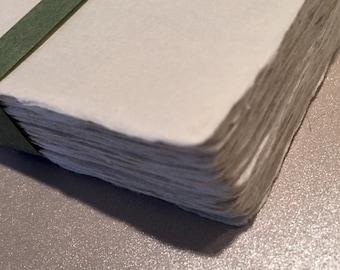 Thick Handmade Japanese Kozo Paper Cards with Deckle Edges