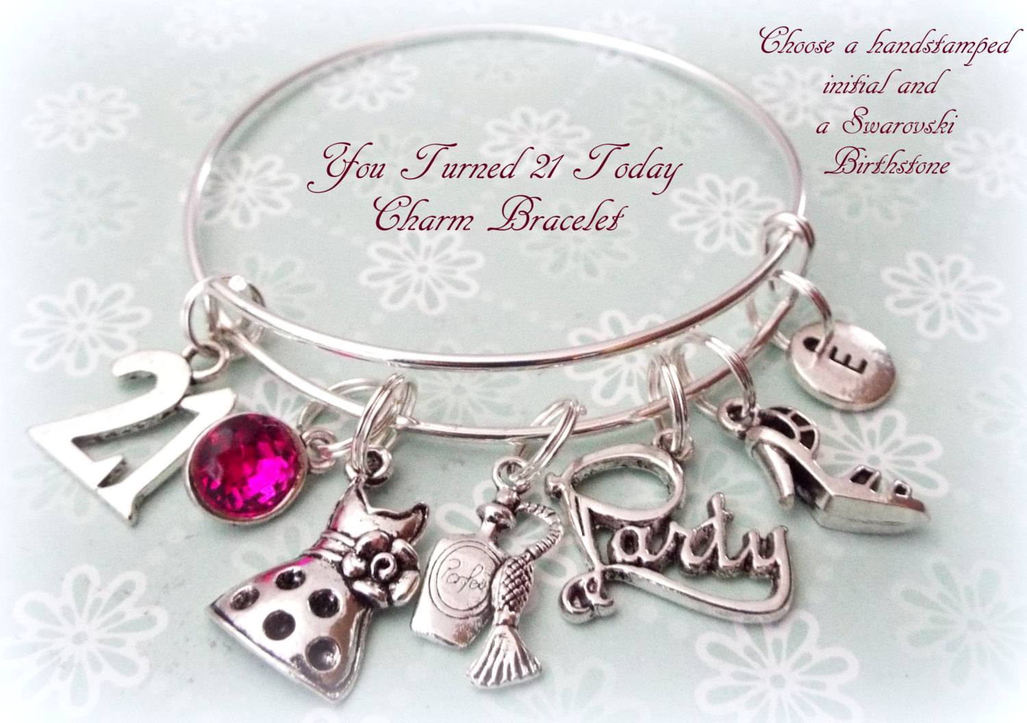 Special Daughter 21st Birthday Charm Bracelet with Gift Box Women's Jewellery CwPCkOCN