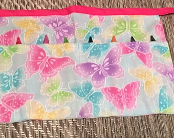 Butterfly childs Crayon holder Apron