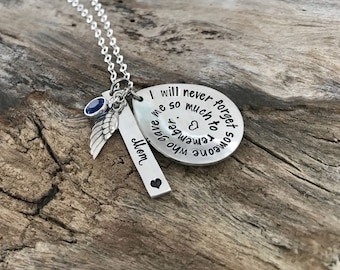 Memorial Necklace Sympathy Gift | Miscarriage Necklace | Remembrance Necklace For Loss Of Loved One
