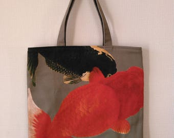 Goldfish print of pettanko bag (蘭鋳)