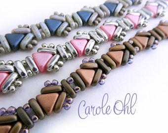Usonia Bracelet Tutorial by Carole Ohl
