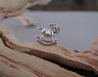 Rocking Horse Toy  Sterling Silver Charm