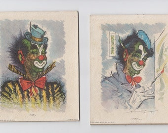 Clown Lithographs by Artist Pen 1960 by  Donald Art Company