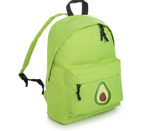 Avocado Backpack School Bag Rucksack Sports Travel Tumblr Funny Hipster Grunge Fun Goth Kawaii Cute Fashion Vegan Vegetarian Detox Miley