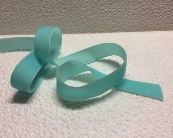"""Turquoise velvet Ribbon """"stranded 964"""" 2cm wide"""
