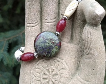 Dragons Blood Jasper Oil Diffusing bracelet