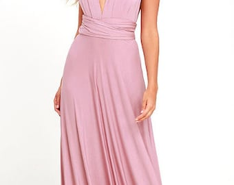 Soph's Convertible Maxi Dress BridesMaids Dress prefect for a wedding, vacationing or strolling on the beach.