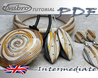 Polymer clay tutorial - Pattern Waves - Capsule Earrings - English