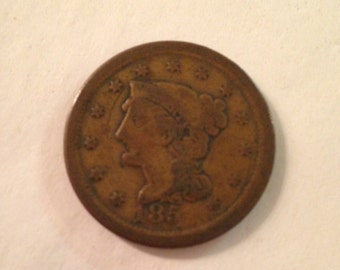 Antique Liberty Head Penny from 1850s