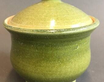 Bob Taft Small Lidded Spearmint Green Jar