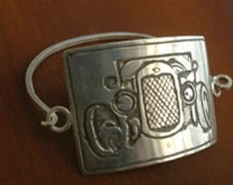 Roadster Tension Bracelet in Sterling Silver