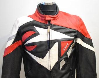 Vintage MOTORCYCLE LEATHER JACKET , men's biker jacket .............(674)