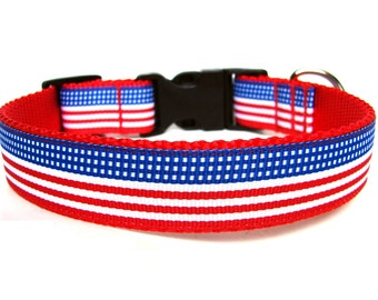 July Dog Collar American Flag Dog Collar SIZE SMALL