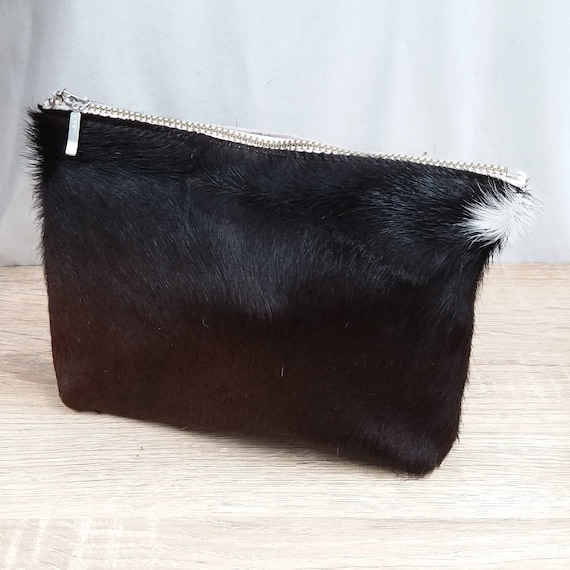 Large Cowhide Purse (pouch) brown - pony hair - New Zealand Cowhide
