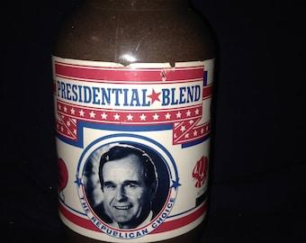 Jar of Presidential Blend Coffee